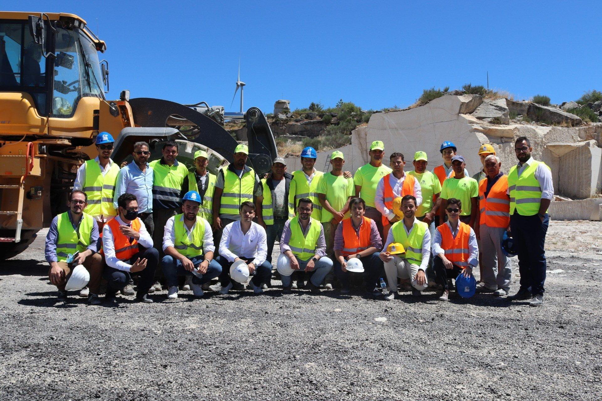 VISITA DO PRESIDENTE DO CDS-PP, Francisco Rodrigues Dos Santos À PEDREIRA DA ASG - Construções e Granitos, Lda